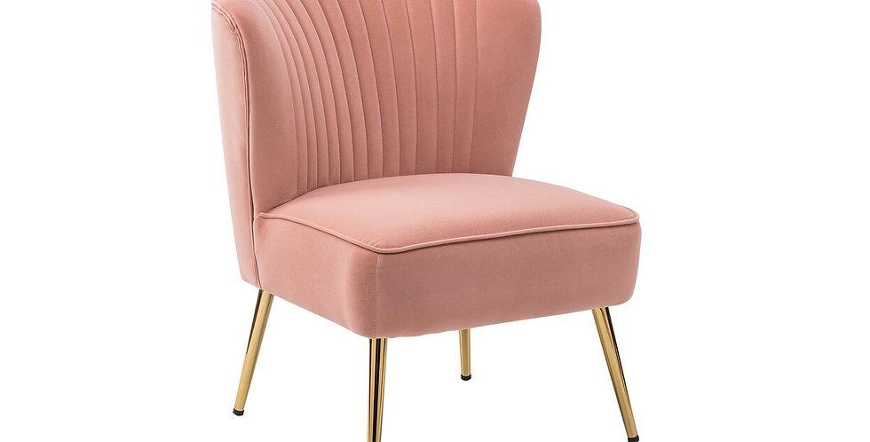 Addy Pink Velvet Accent Chair
