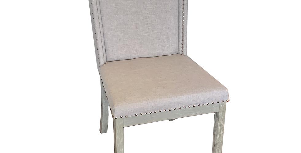 Gray Nailhead Chair