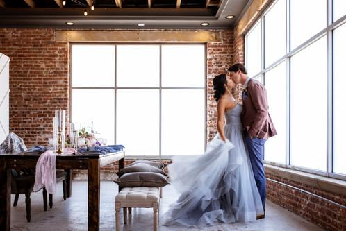 Bride and Groom Modern Wedding St. Vrain