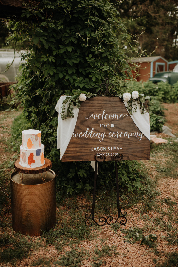 small wedding custom welcome sign