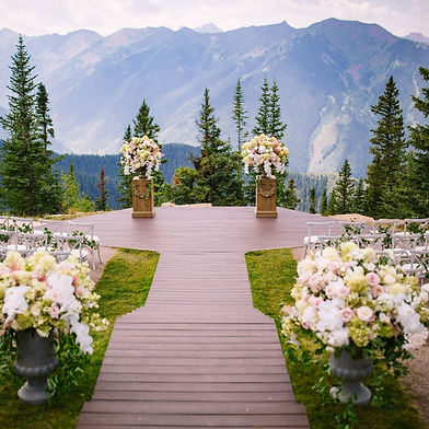 Mountain wedding outside