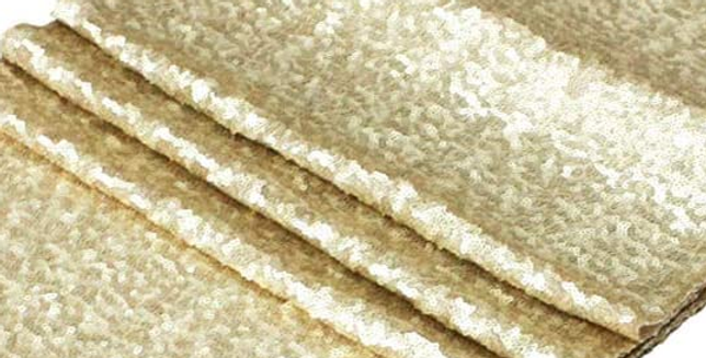 Sequin Table Runner, Champagne Gold