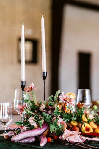 Modern Black Candlestick Holders