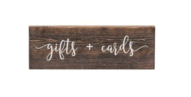 Wooden Gifts & Cards Sign