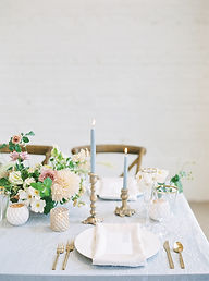 Modern Dusty Blue Whimsical Wedding Tabl