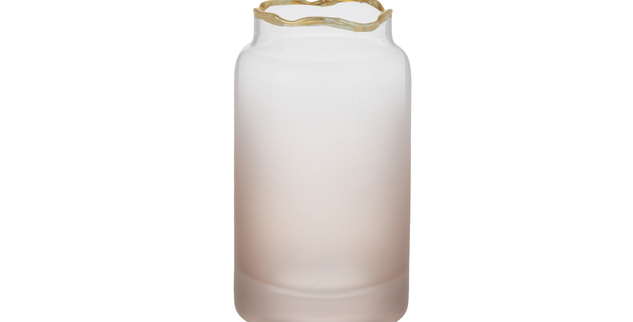 Blush Ombre Glass Bud Vase