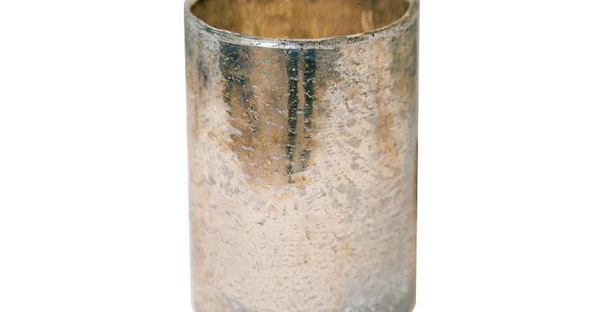 Gold Luster Mercury Candle Holder