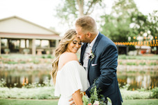 garden party elopement kisses