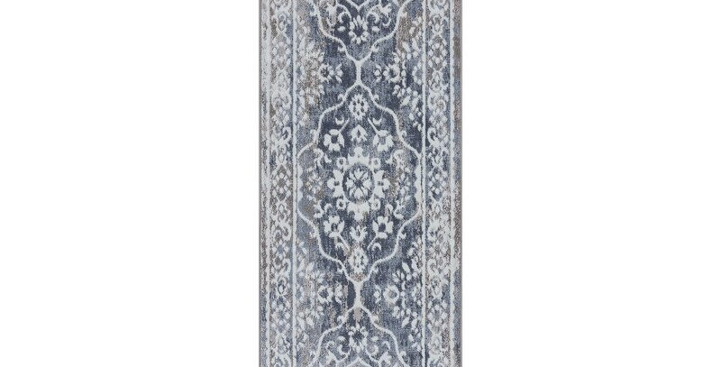 Floral Tiled Blue Runner