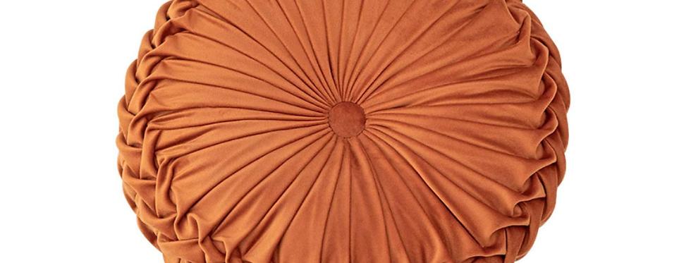 Burnt Orange Round Pillow