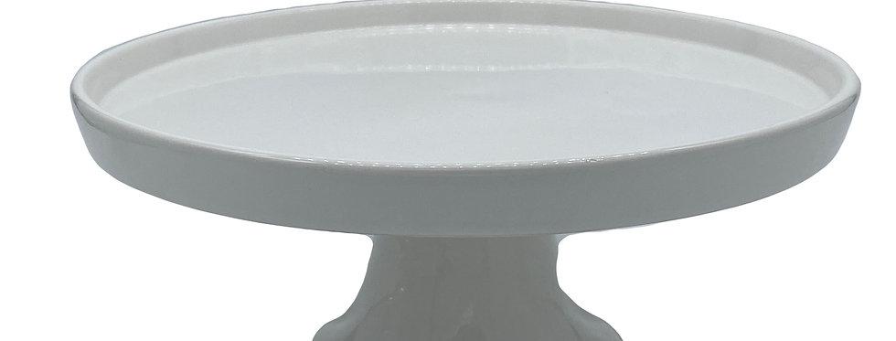 Cake Stand, White Ceramic, Medium