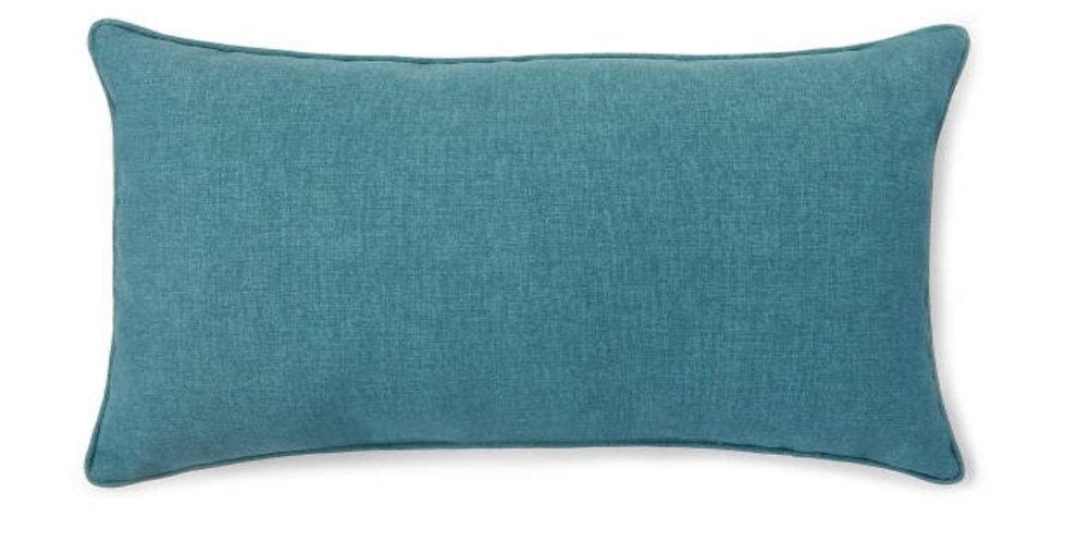 Teal Burlap Pillow