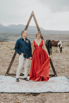 Outdoor Ceremony with Rug