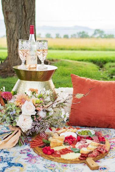 boho wedding picnic colorado