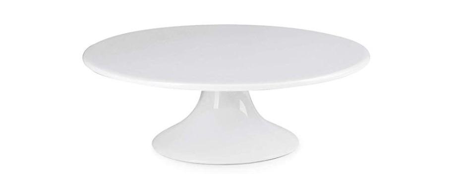 Cake Stand, White Ceramic, Small
