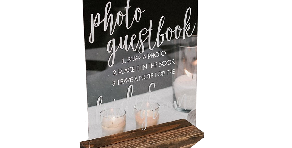 Acrylic Photo Guestbook Sign