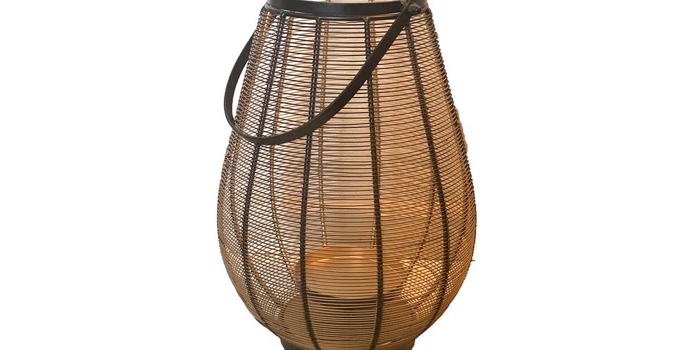 Black + Gold Wire Lantern