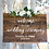 Thumbnail: Welcome to Our Wedding Ceremony, Brown Wood Custom Sign