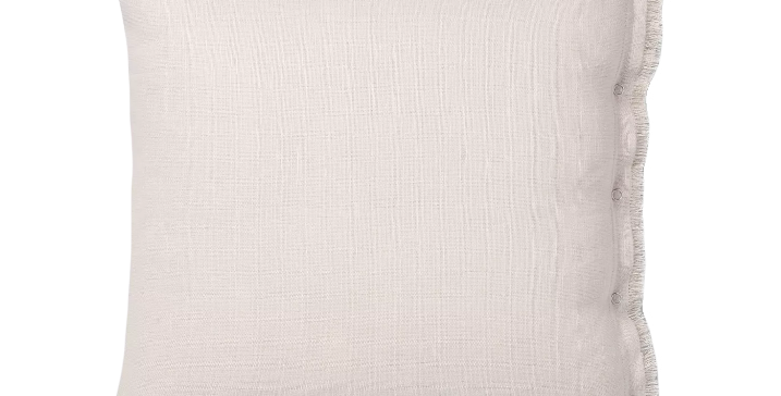 Side Snap Neutral Throw Pillow