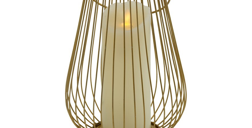 Gold Wire Lantern, Large