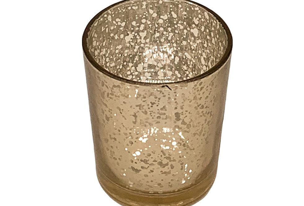 Mercury Glass Votive, Speckled Gold