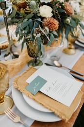 micro wedding stationary and table decor rental