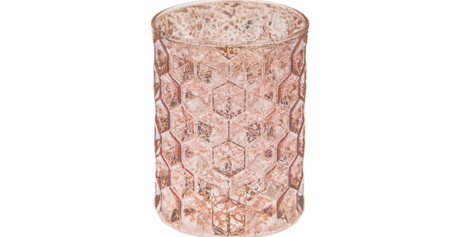 Rose Gold Honeycomb Candle Holder