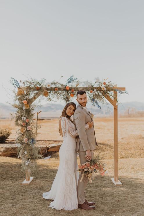 Sarah Kemper Photo Wedding Arch Country