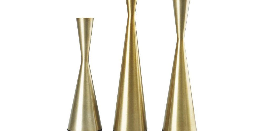 Hourglass Taper Candle Holders, Set of 3