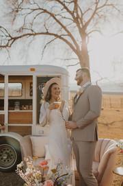 Brid eand Groom Country Rustic Wedding