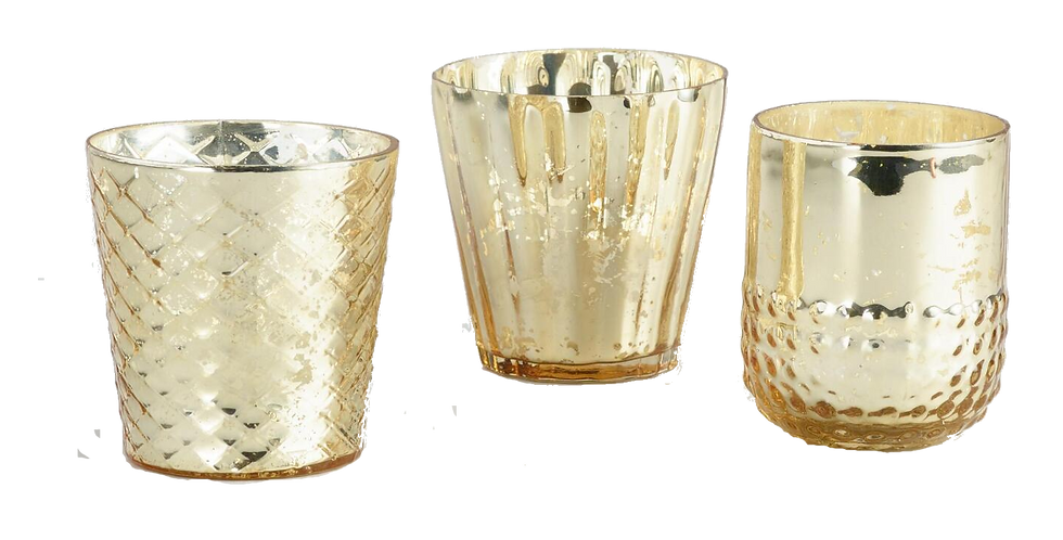 Gold Mercury Votives, Assorted