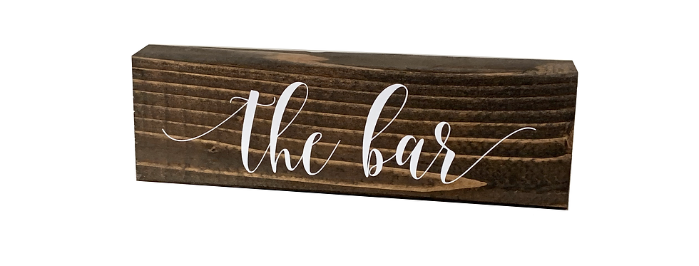Wooden Bar Sign