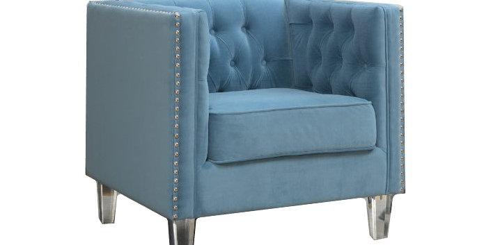Skylar Velvet Arm Chair