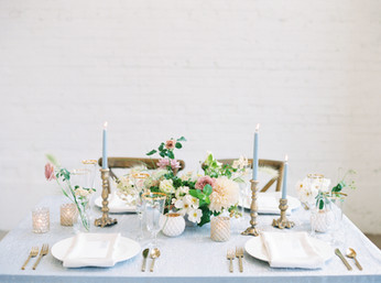 Gold + Gray Candlestick Holders Sweethea
