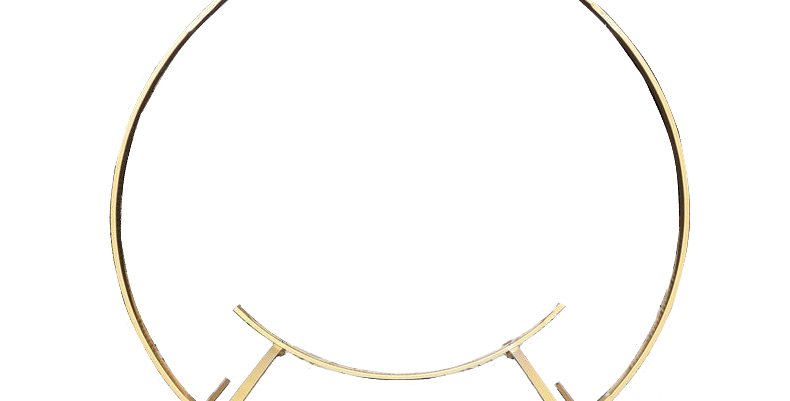 Gold Round Metal Arch, 8' (2-in-1)