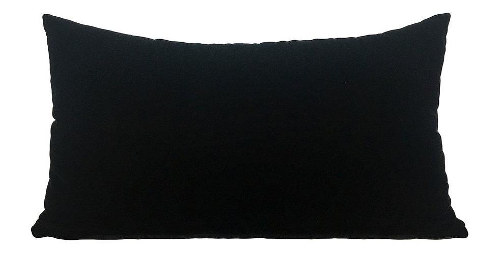 Black Velvet Lumbar Pillow