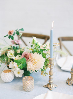 Fairytale Reception Table Gold Blue Whit