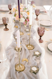 bright airy wedding table