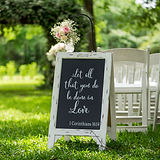 Large signs for wedding