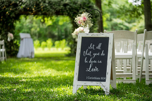 Outdoor wedding sign white wood with quote