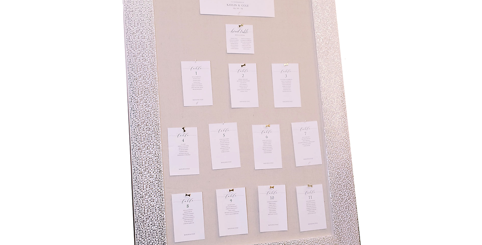 Fabric Seating Chart Frame