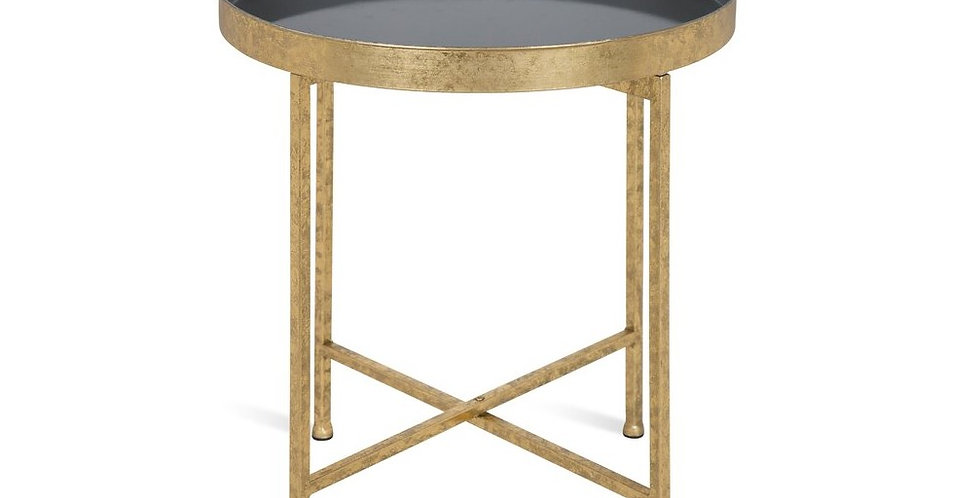 Gold + Gray End Table