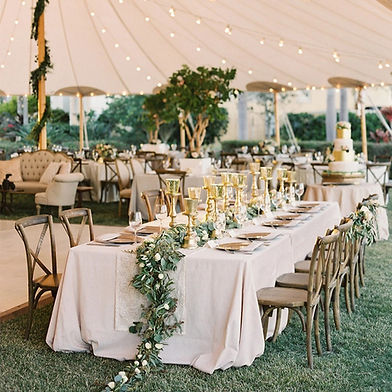 Rustic wedding decorations for outside wedding in tent