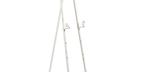 White Antique Metal Easel, Large