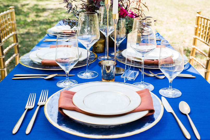micro wedding table setup rentals