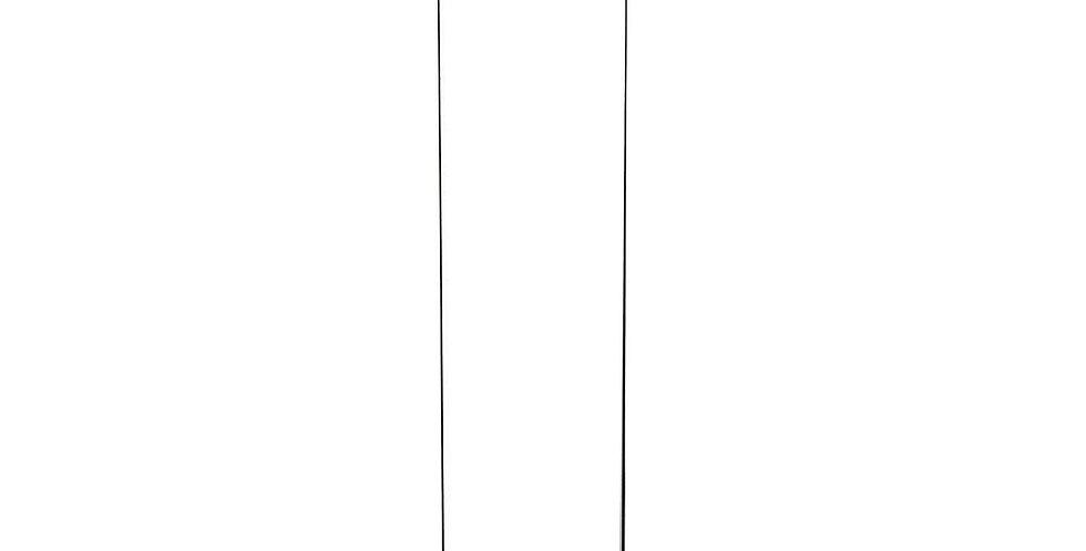"""Open-Ended Glass Hurricane Chimney, 16"""" H"""