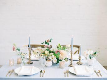 Romantic Denver Wedding Tablescape