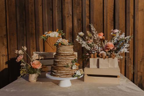 Country Western Chic Wedding Dessert Tab