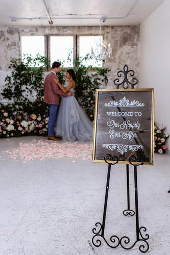 Mirror Wedding Welcome Sign