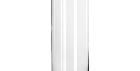 """Glass Cylinder Vase, 10.5""""H"""